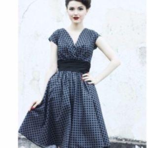 Modcloth Retrolicious Polkadot Swing Dress